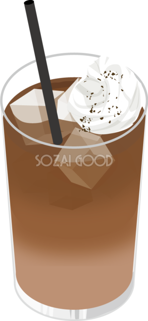 アイスカフェオレ 食べ物 無料イラスト 素材good