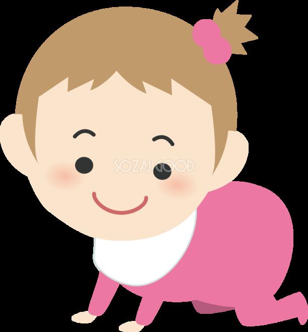 ハイハイする赤ちゃん 人家族イラスト 素材good