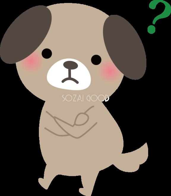 犬 考える 動物イラスト 素材good