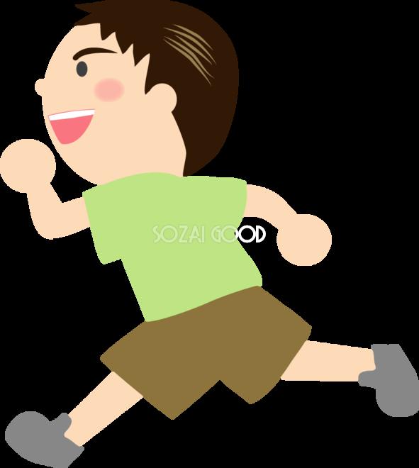 男の子 ダッシュで走る 無料イラスト 素材good