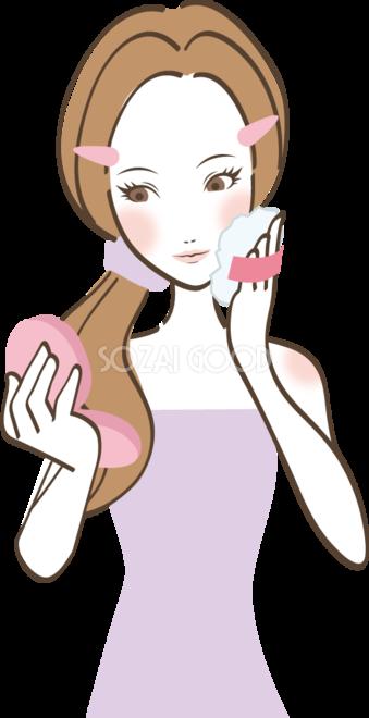 お化粧する女性 無料イラスト 素材good