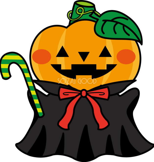 かわいいハロウィンかぼちゃ 秋の無料イラスト32989 素材good