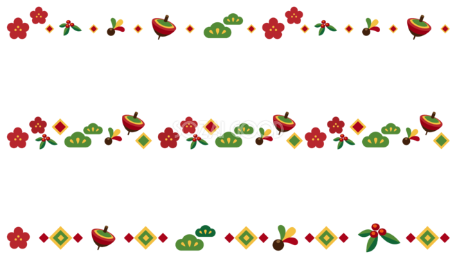 冬のライン無料イラスト(お正月飾り)37212