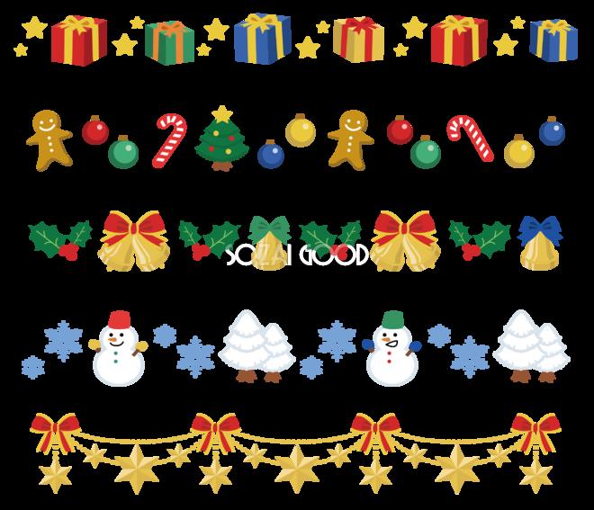 12月クリスマスイラストライン37569 素材good