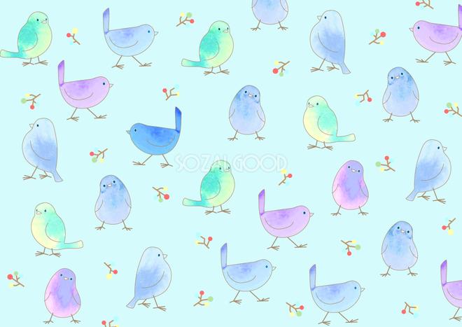 かわいい背景イラスト鳥の模様37914 素材good
