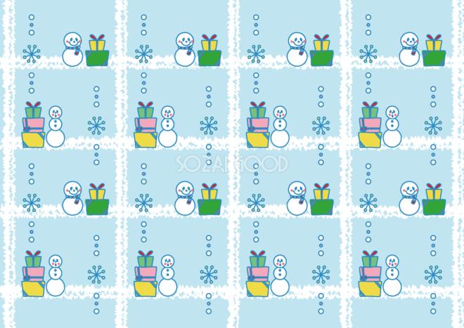 雪だるま 背景イラスト 12月の背景イラスト素材 ...