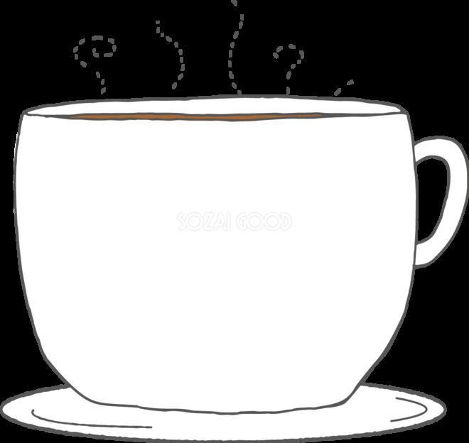 冬の枠 無料イラスト コーヒーカップ38482 素材good