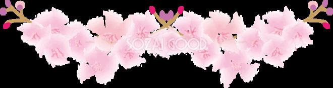桜 春のラインイラストかわいい美しい系39749 素材good