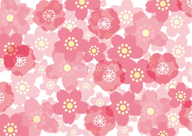 桜 イラスト 春の背景かわいい柄模様39805 素材good