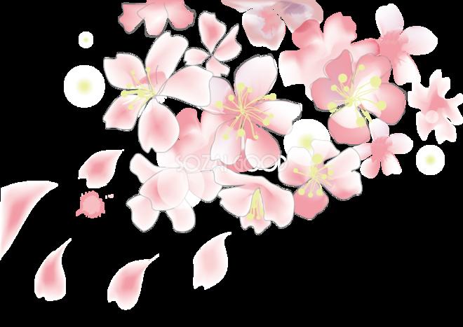 桜 春の背景イラスト 花びらキレイ系アート39841 素材good