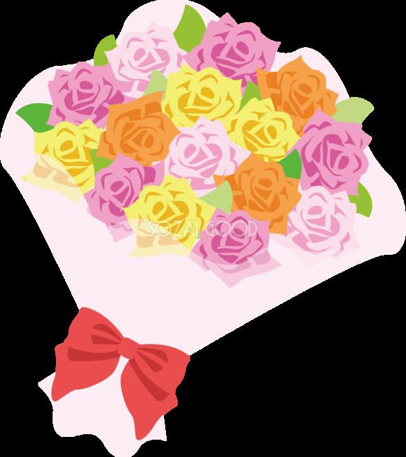 バラ花束の無料イラスト 春41172 素材good
