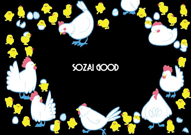 鶏のフレーム無料イラスト 17年賀状デザイン493 素材good