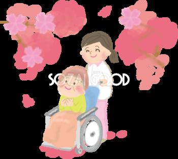 桜の花見イラスト 無料フリー 素材good
