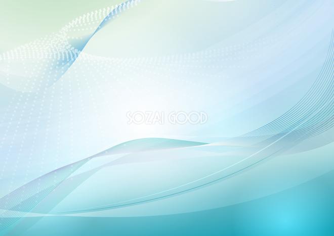 波状のグラデーショングリーン背景無料イラストテクスチャ43435