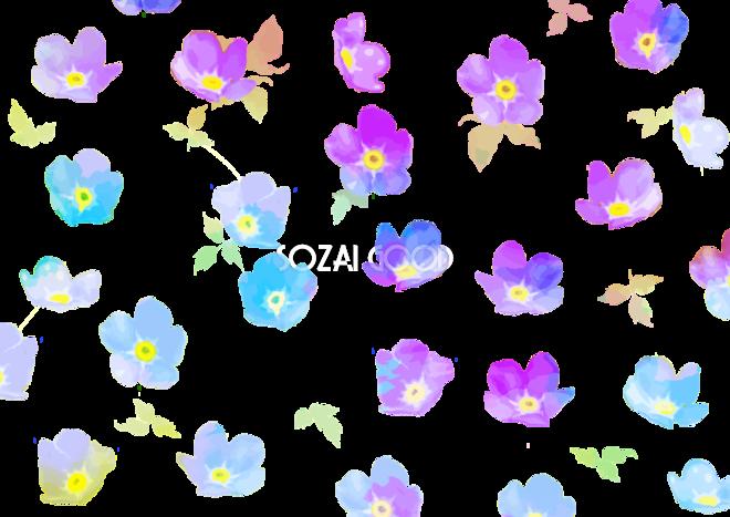 お花柄のかわいい水彩画 背景無料イラスト花44259 素材good