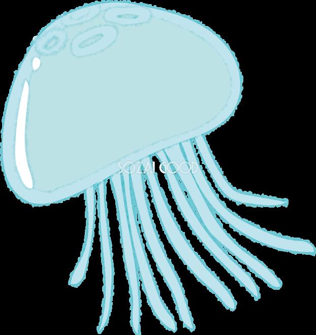 クラゲの無料イラスト海46122 素材good