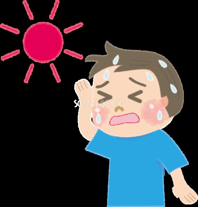 子どもの熱中症の男の子の無料イラスト医療夏47013 素材good