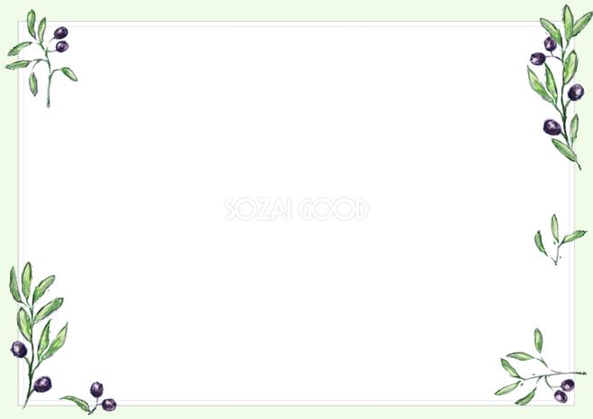 植物の手書きフレームの無料イラスト51901 素材good