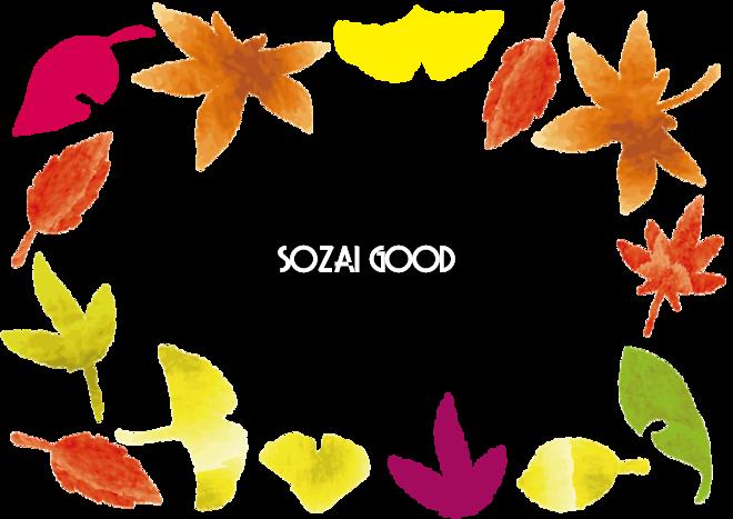 かわいい紅葉もみじで囲むフレーム飾り枠無料イラスト秋52728 素材good