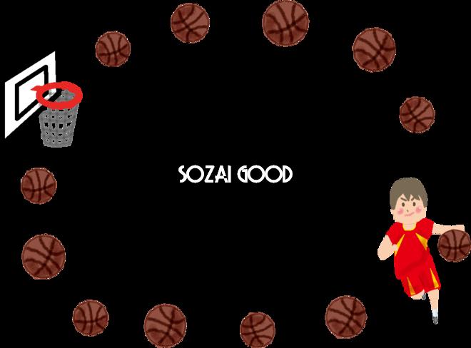 バスケットボール男子のフレーム無料イラスト53524 素材good