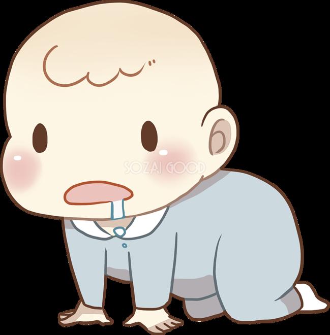 ハイハイする赤ちゃん 無料イラスト 素材good