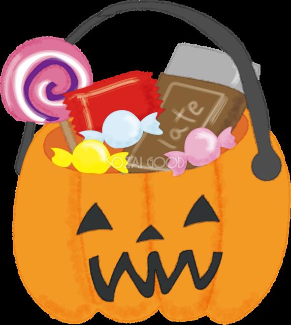かわいいハロウィンお菓子詰め合わせ無料イラスト54482 素材good