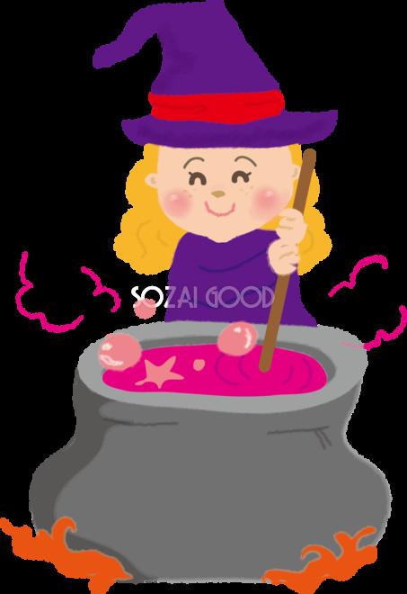 かわいいハロウィン魔女の料理 無料イラスト55265 素材good