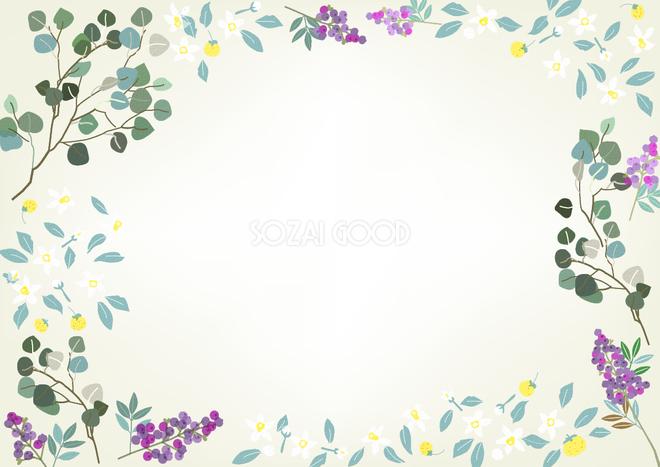花のフレーム枠イラスト無料フリー 素材good
