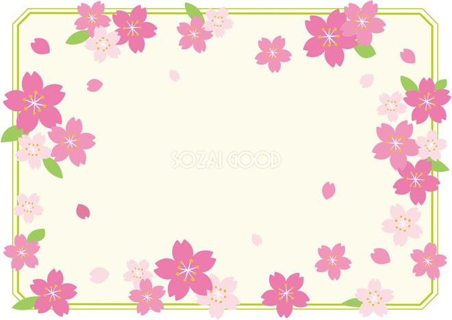 春桜の八角フレームフレーム飾り枠の無料イラスト62293 素材good