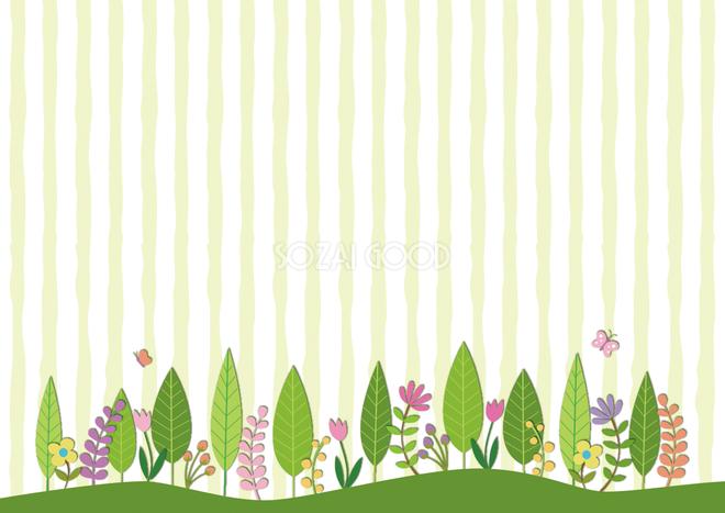 春抽象的な春の森背景緑 グリーン無料イラスト62314 素材good