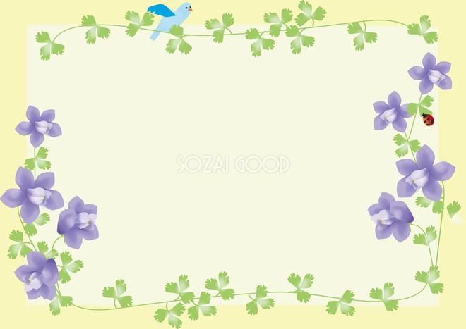 苧環おだまき春4月 5月の花フレーム無料イラスト68697 素材good