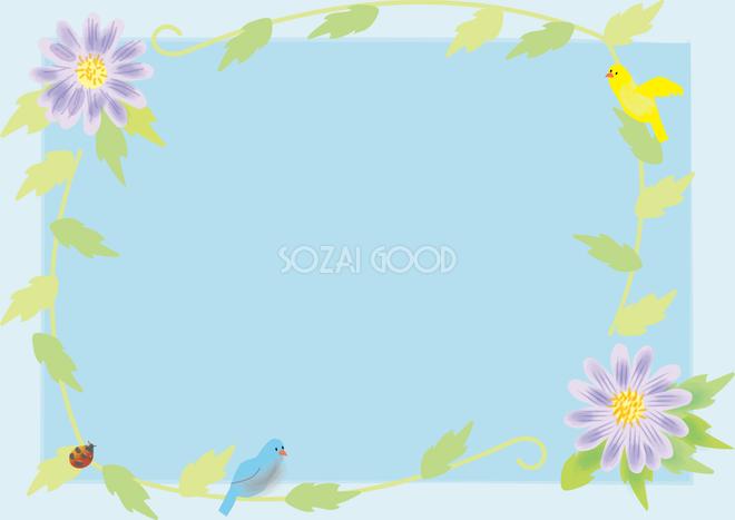 都忘れみやこわすれ春4月 6月の花フレーム無料イラスト68709 素材good