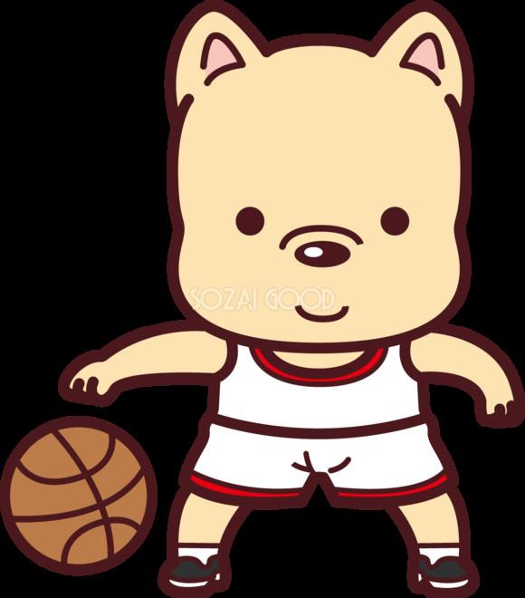犬がバスケットボール オリンピック競技 スポーツ無料イラスト69547