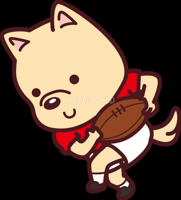 犬がラグビー オリンピック競技 スポーツ無料イラスト69587 素材good