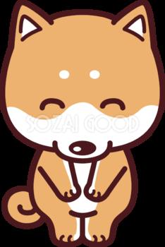 柴犬がお辞儀し(いらっしゃいませ) 挨拶の犬の無料イラスト69886