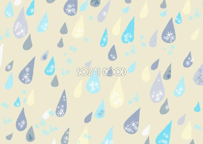 かわいい雨しずく柄模様 ベージュ 背景無料の梅雨イラスト71697 素材good