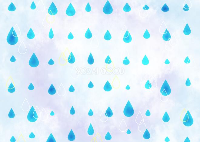 綺麗な可愛い雨しずく柄模様 透水 背景無料梅雨イラスト71705 素材good