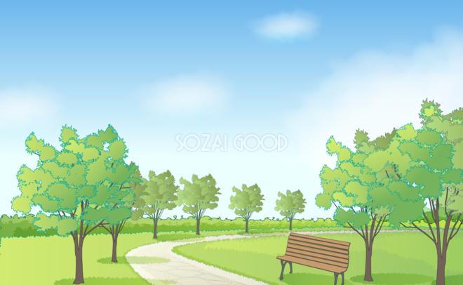 公園 イラスト 背景 フリー