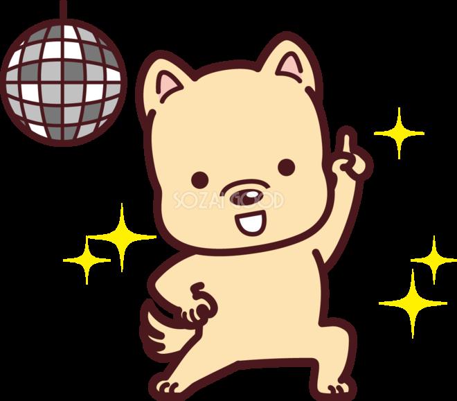 ダンスをするかわいい18干支 戌 の無料イラスト 素材good