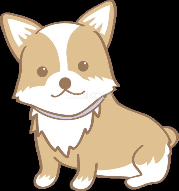 かわいいコーギー お座り 座る 犬の無料イラスト 素材good