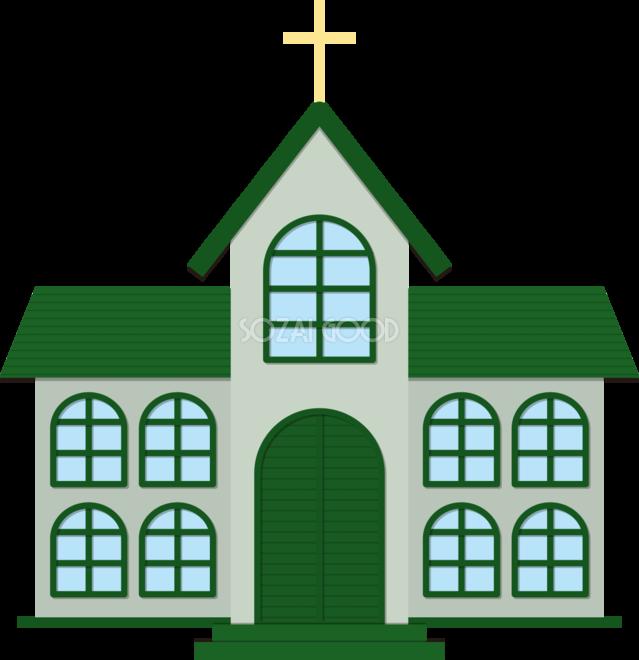 教会の建物の無料イラスト80047 素材good