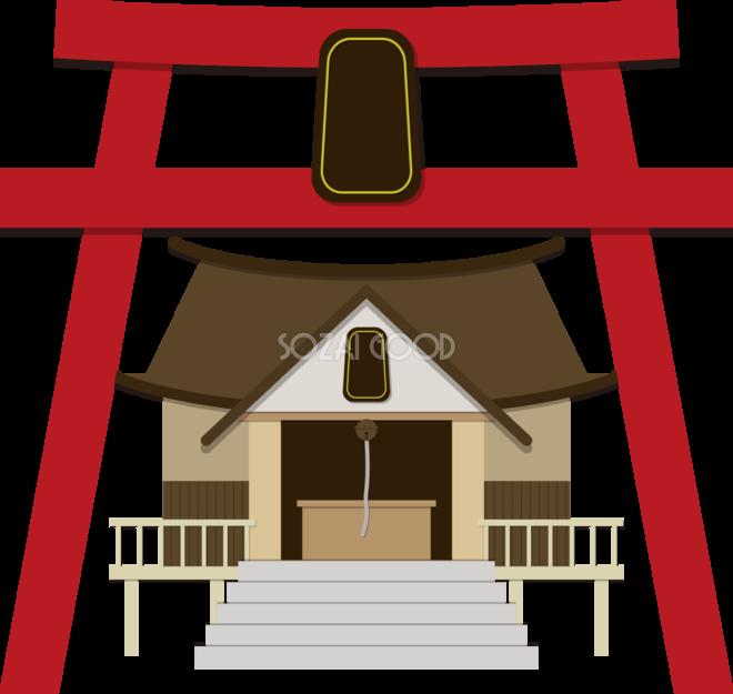 神社の建物の無料イラスト80060 素材good