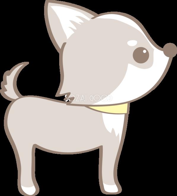 かわいいチワワ横向き犬の無料イラスト80090 素材good