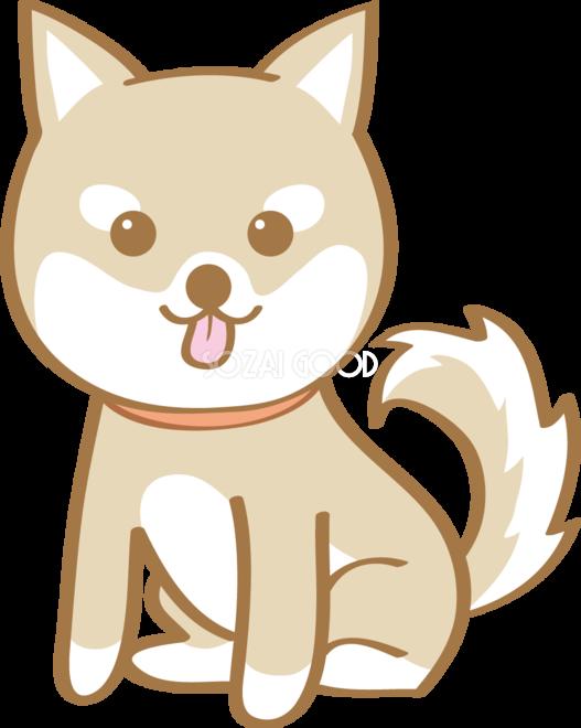 かわいい柴犬お座り座る犬の無料イラスト80173 素材good