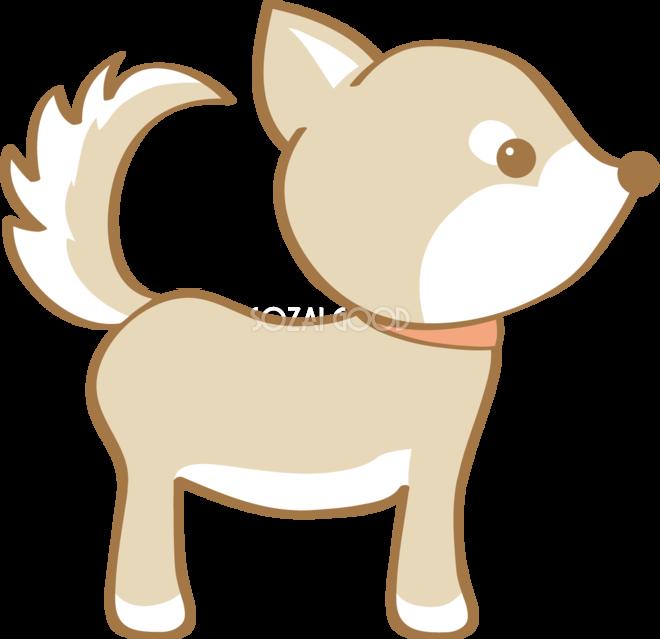かわいい柴犬横向き犬の無料イラスト80176 素材good