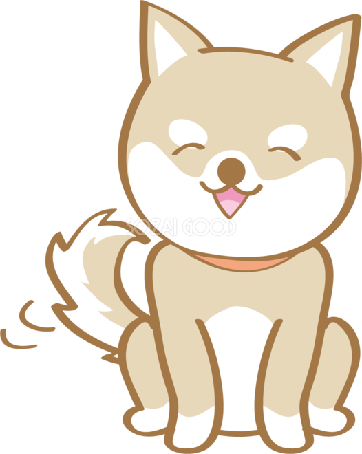 かわいい柴犬笑顔犬の無料イラスト80180 素材good