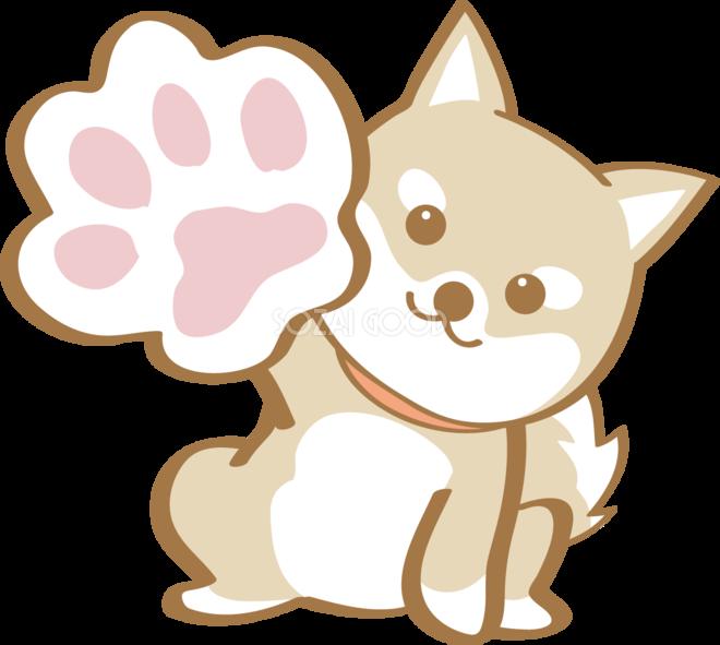 かわいい柴犬肉球犬の無料イラスト80184 素材good