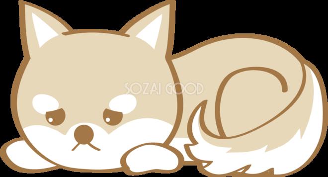 かわいい柴犬悲しい犬の無料イラスト80185 素材good