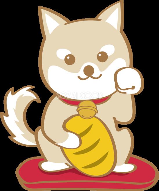 戌年招き犬無料イラスト2018かわいい犬80266 素材good