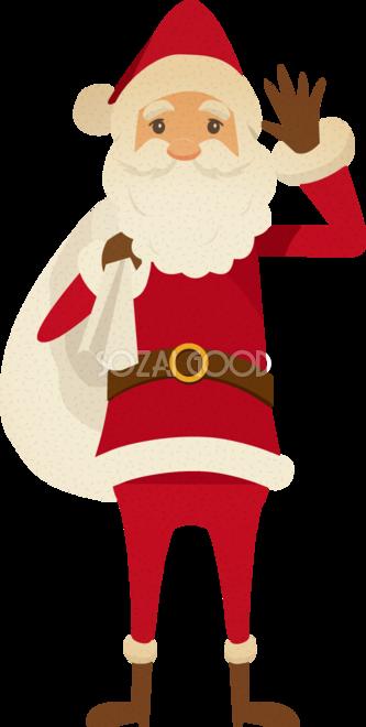 おしゃれ 体が細い サンタクロース無料イラスト 素材good